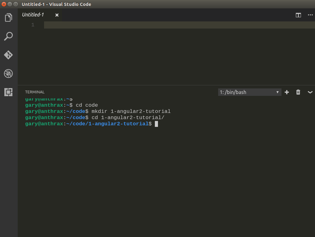Build a basic angular 2 application with VS Code | Gary Woodfine